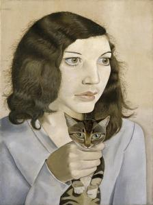 Girl with a Kitten 1947 by Lucian Freud 1922-2011