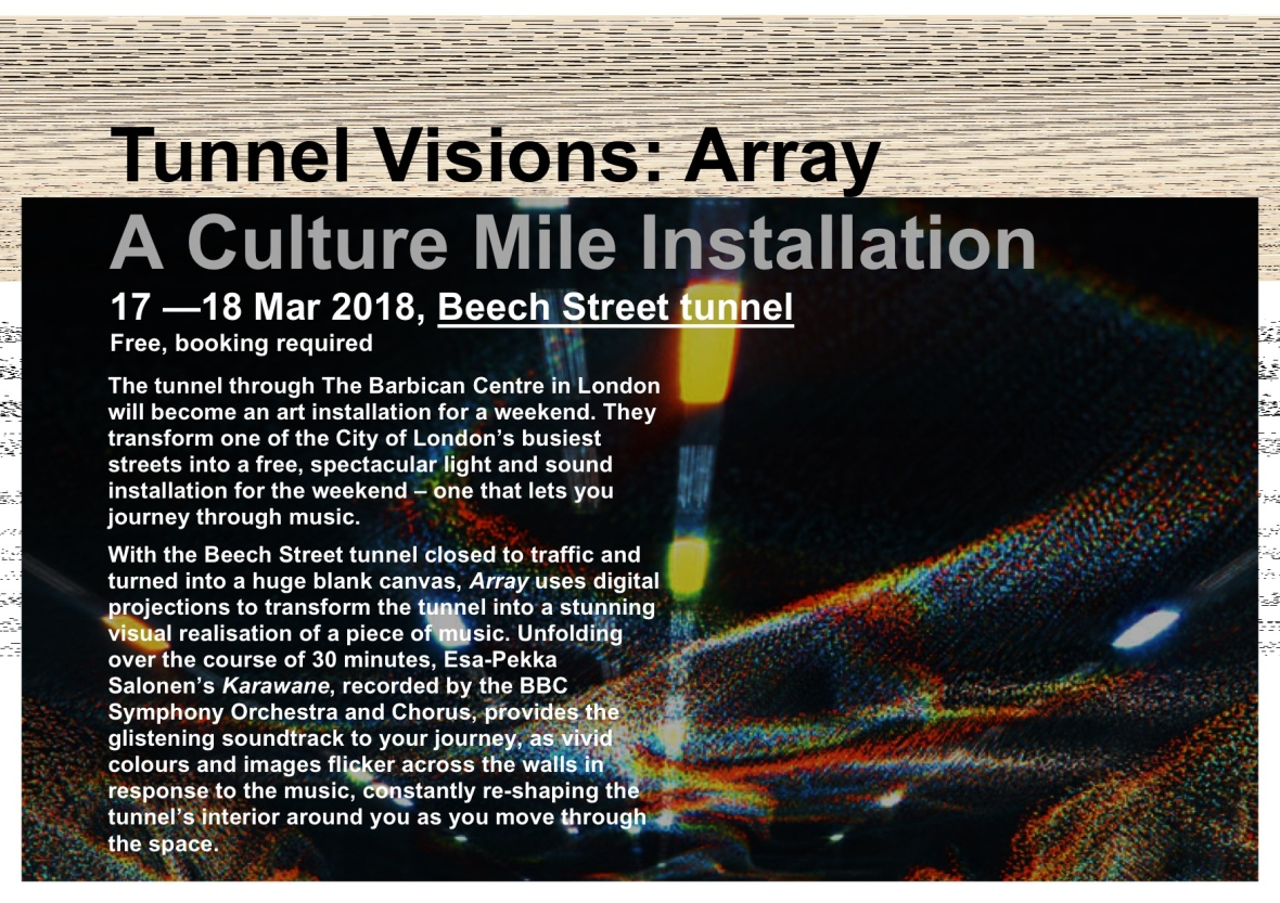 Tunnel VisionMarch exhibitions